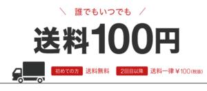 送料100円