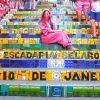世界一可愛い階段?リオの階段アートを観光。